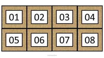 Calendar Pieces/Bulletin Board Set - Burlap
