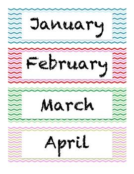 Calendar Pieces-Chevron