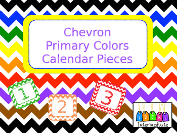 Calendar Pieces - Chevron Primary Colors