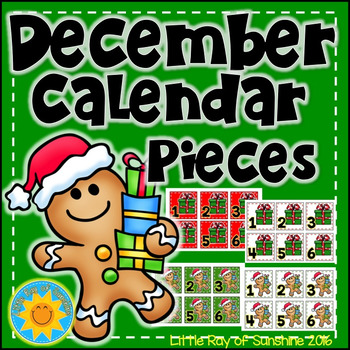 Calendar Numbers December