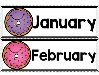 Calendar Pieces {Donut Themed}