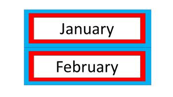 Calendar Pieces/Bulletin Board Set - Dr. Seuss Tribute Colors