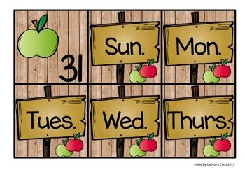Calendar Pieces -- Fall AB Pattern