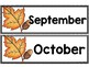 Calendar Pieces {Fall Leaves Themed}