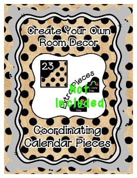 Calendar Pieces { Freebie } - Create Your Own Room - Black Dot - Sand