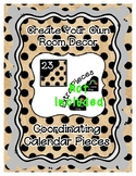 Calendar Pieces { Freebie } - Create Your Own Room - Black