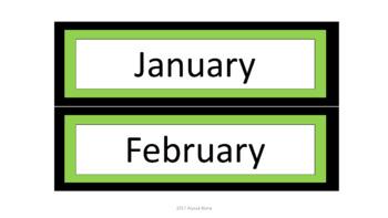 Calendar Pieces/Bulletin Board Set - Green