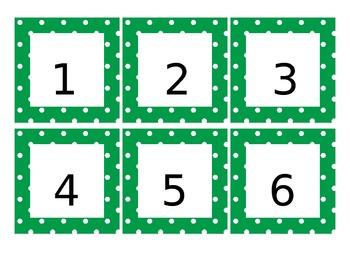 Calendar Pieces - Green Apple Polka-dots (2 years - 2013/2014)