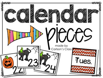 Calendar Pieces -- Halloween ABB Pattern