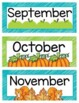 Calendar Pieces In Lime and Teal