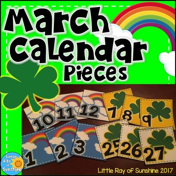 Calendar Numbers MARCH