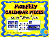 Calendar Numbers Monthly (Whole Year)