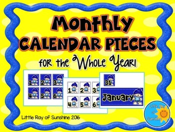 Calendar Numbers - Monthly - Whole Year!