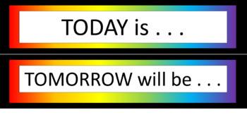 Calendar Pieces/Bulletin Board Set - Noah's Rainbow