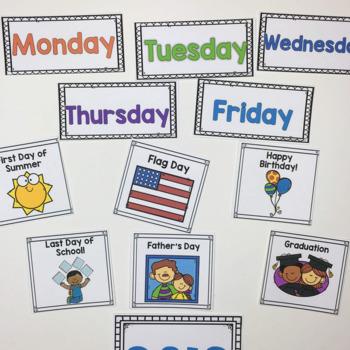 Monthly Patterned Calendar Cards Bundle