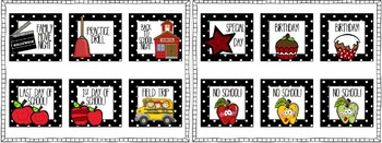 Calendar Pieces Polka Dot