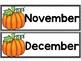 Calendar Pieces {Pumpkin Themed}