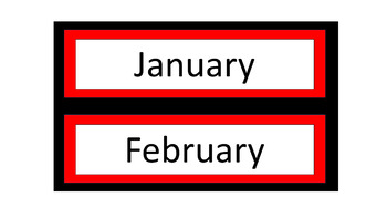 Calendar Pieces/Bulletin Board Set - Red & Black