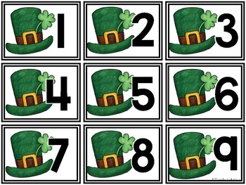 Calendar Pieces {St. Patrick's Day Themed}