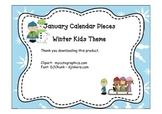 Calendar Pieces Winter Theme