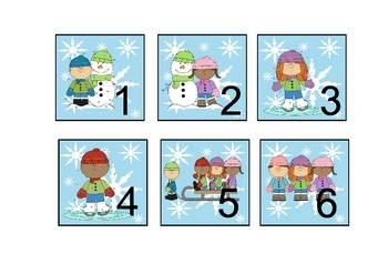 Calendar Pieces Winter Theme