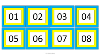 Calendar Pieces/Bulletin Board Set - Yellow & Blue