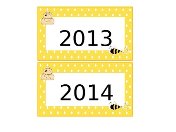 Calendar Pieces - Yellow and White Polka-Dots with bee and hive trim