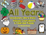Calendar Pieces and Word Walls for All Year--12 MONTHS--40