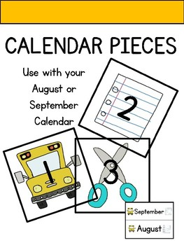 Calendar Pieces for August or September