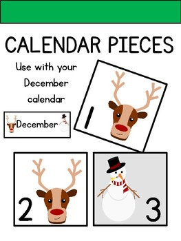 Calendar Pieces for December