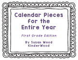 Calendar Pieces for First Grade - Entire Year Bundle!