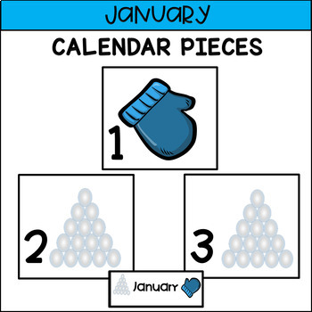 Calendar Pieces for January