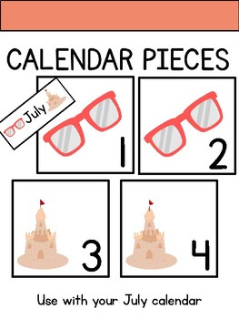 Calendar Pieces for July