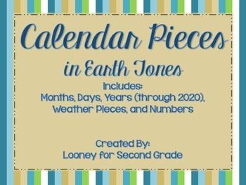 Calendar Pieces in Earth Tones