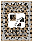 Calendar Pieces with Extras - Create Your Own Room - Black Dot - Burlap