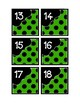 Calendar Pieces with Extras - Create Your Own Room - Black Dot - Green