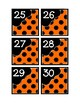 Calendar Pieces with Extras - Create Your Own Room - Black Dot - Orange