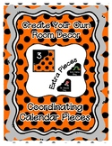 Calendar Pieces with Extras - Create Your Own Room - Black