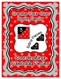 Calendar Pieces with Extras - Create Your Own Room - Paste
