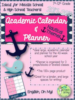 Calendar & Planner 2017-2018, Nautical