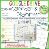 Calendar, Planner, 2018-2019, Google Drive