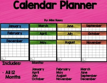 Calendar Planner ( Color)
