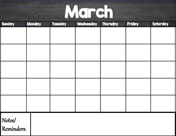 Calendar/Planner Freebie