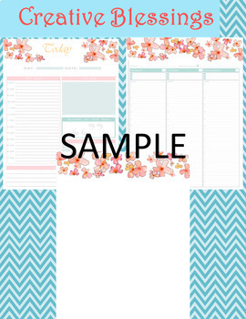 Flower Calendar, Planner and Stationary (451 pages)