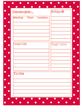 Calendar Planning Pages