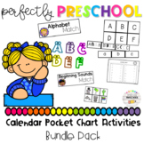 Calendar Pocket Chart Activities Bundle Pack
