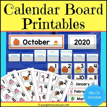 Calendar Pocket Chart (Bulletin Board) Printables