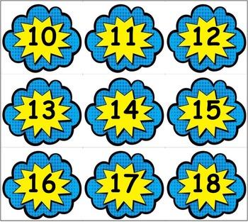 Calendar: Pocket Chart Calendar Cards - Super Hero