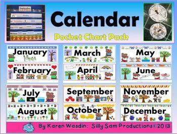 Calendar Pocket Chart Pack