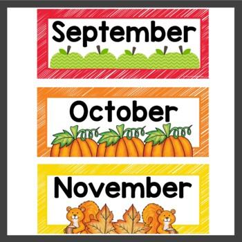 Calendar and Weather Cards Rainbow